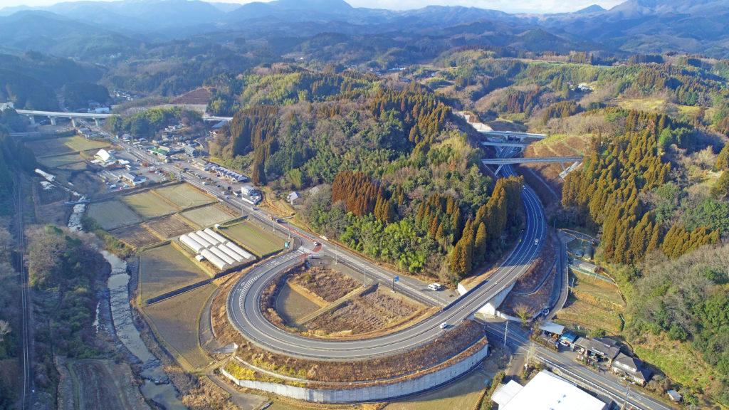 中九州横断道路朝地IC